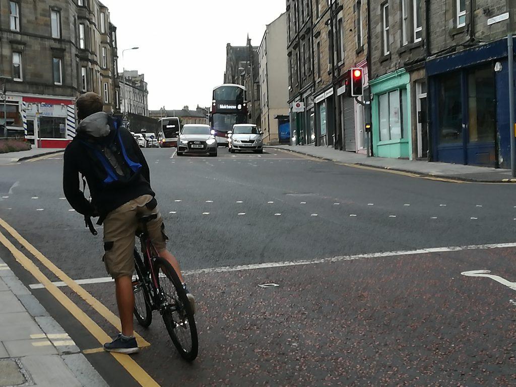 Ciclista en Canonmills. Foto: Laura Medina Alemán
